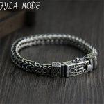 Brand 925 <b>Silver</b> <b>Bracelet</b> 100% 925 Solid <b>Silver</b> Fashion Jewelry Braided Dragon Body Bone Thai <b>Silver</b> Chains <b>Bracelet</b> & Bangle