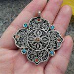 TBP612 Tibetan <b>Antiqued</b> Clover Flower Pendants India Nepal handmade Vintage <b>Jewelry</b>