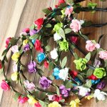 Bohemian Styles Artificial Rose Flower Headband Seaside Beach Holiday Shoot <b>Decoration</b> Prop Headpiece <b>Jewellery</b>