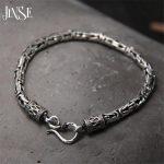 5MM Width Male Bracelet 925 <b>Sterling</b> <b>Silver</b> Bangles Men <b>Jewelry</b> Thai <b>Silver</b> Rope Chain 19CM 22CM Fine Present For Boyfriend