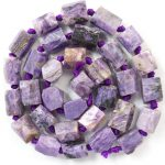Free Shipping!!! 1 strand(Approx: 33Pcs)Natural Charoite Loose Bead 15.5 inch M110 For <b>Jewelry</b> <b>Making</b>