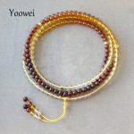 Yoowei 83cm Natural Amber <b>Bracelets</b> for Meditation Yoga Tiny Beads 216 Prayer Buddha Mala Round Amber Necklace Jewelry Wholesale