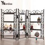 Mordoa 1pcs Dangle Earrings <b>Jewelry</b> Black Metal Display Stand Holder Rack <b>Necklace</b>, <b>Jewelry</b> Display, Wrought Iron Frame