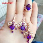 KJJEAXCMY boutique jewels 925 pure <b>silver</b> Natural Amethyst lady suit jewellery package