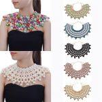 10 Colors Chunky Statement Necklace For Women Neckcklace Bib Collar Choker <b>Handmade</b> Necklace Maxi <b>Jewelry</b>