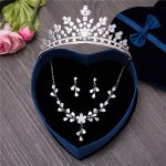 Gorgeous Cubic Zirconia <b>Jewelry</b> Sets <b>Handmade</b> CZ Clear Zircon Necklaces Earrings Gifts for Wedding Party Princess Tiaras Bijoux