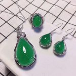 Yu Xin Yuan 925 Mosaic Delicate Drops Of Water Pendant Natural Chalcedony Necklace <b>Earrings</b> Ring A Three-piece