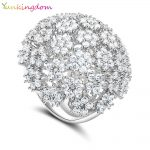 Yunkingdom Banquet Party Queen <b>Wedding</b> Fine Rings for Women and Ladies Full Inlay Cubic Zirconia Fashion <b>Jewelry</b>