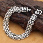 Handmade 925 <b>Silver</b> Chain <b>Bracelet</b> Vintage Sterling <b>Silver</b> Man <b>Bracelet</b> Punk Jewelry Lucky <b>Bracelet</b> Real <b>Silver</b> Jewelry Gift