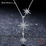 ANFASNI Top Quality Trendy 925 Sterling <b>Silver</b> Star Push-pull <b>Necklace</b> For Women Adjustable Chains For Party Gift CGSNL0006-B