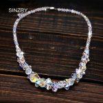 SINZRY <b>jewelry</b> imported crystal brilliant chokers necklaces luxury 925 sterling silver <b>handmade</b> glass crysal bridal <b>jewelry</b>
