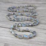 Long Bead <b>Necklace</b> Labradorite beads <b>Necklace</b> Labradorite <b>Necklace</b> Yoga lariat beads <b>jewelry</b> bohemian