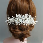 Dower me Charming Bridal Silver Hair Piece Comb Floral Wedding Accessories Hair Vine <b>Jewelry</b> Headwear for Women