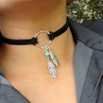 Artilady Trendy Bohemian Feather Suede Choker Necklace <b>Native</b> <b>American</b> Choker Boho <b>Jewelry</b>