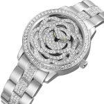 WEIQIN Top Brand Luxury Women's Watches Rhinestone Rose God <b>Silver</b> <b>Bracelet</b> Quartz Watch Fashion Ladies Gift Dress Wristwatch