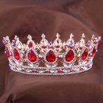 Hot European Designs royal king queen crown rhinestone tiara head <b>jewelry</b> quinceanera crown <b>Wedding</b> bride Tiaras Crowns Pageant