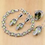 Trendy 925 Sterling <b>Silver</b> Bridal Jewelry Yellow CZ Jewelry Sets For Women Earrings/Pendant/Necklace/Rings/<b>Bracelet</b>