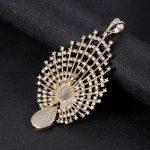 <b>jewelry</b> making supplies Top Quality Luxury Zircon Peacock Pendant Connectors <b>Fashion</b> Fine Pearl <b>Jewelry</b> Findings Component