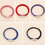 925 Sterling Silver Pan Bracelet Snake Barrel Clasp Moments Double Woven Leather Bangle Fit Diy Charm Diy <b>Jewelry</b>