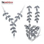 LZESHINE Mother's Day 100% 925 Sterling <b>Silver</b> Jewelry Sets Pendants/Earrings /Rings 3pcs Women Fashion Jewelry PSST0001-B