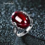 JIASHUNTAI Vintage 100% 925 Sterling Silver Rings For Women Natural Precious Stones Retro Thai Silver Rings <b>Jewelry</b>