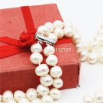 Accessories White Natural Freshwater Pearl Lucky Beads 2ROWS Necklace Chain DIY <b>Jewelry</b> <b>Making</b> Design Women Girls Gifts 6-7mm