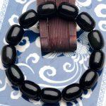 JoursNeige AAA Natural Black Obsidian Stone Bracelet 14mm Candy Bracelet <b>Jewelry</b> <b>Accessories</b> Amulet Mascot Lucky Bracelet