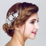 Dower me Lace Floral Wedding Accessories Bridal Hair Clip Comb Handmade Women <b>Jewelry</b> Crystal Pearl Headpiece Clips