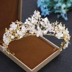 2017 new alloy crystal crown bride <b>handmade</b> <b>jewelry</b> gold hat wedding headdress European Baroque