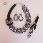 BRW 2017 African <b>Jewelry</b> Set for Women Necklace Earrings Bracelet African Ankara Wax Fabric <b>Handmade</b> Tribal <b>Jewelry</b> Set WYX02