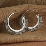 The seedling clan EARRINGS of the MIAO <b>HANDMADE</b> of the ETHNIC TRIBAL of the tribe earring of the <b>jewelry</b> handicraft/