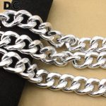 DC 1Meter/lot <b>Silver</b> Color Aluminum Chunky Big Link Chain 22.5*28*6mm Jewelry Findings DIY <b>Bracelet</b> Necklace Connector F1657