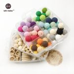 Let's Make DIY Nursing <b>Jewelry</b> Combination Package Crochet Beads Blending Natural Round Geometry Wooden Beads Wood Ring Teether