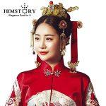HIMSTORY Chinese Hanbok Traditional Vintage <b>Wedding</b> Hair <b>Jewelry</b> Korean Designs Hairwear Phoneix Coronet Bridal Hair Accessories