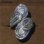 choucong Unique Big Flower Ring 5A Zircon sona Cz 925 <b>Sterling</b> <b>Silver</b> Engagement Wedding Band Rings for women men Finger <b>Jewelry</b>