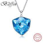 BAFFIN Original Crystals From SWAROVSKI Big Pendant Necklace S925 Silver Max Colar Luxury Chic <b>Jewelry</b> For Women <b>Wedding</b> Gifts