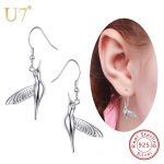 U7 925 Sterling <b>Silver</b> Dangle Bird/Hummingbird Drop Earring 2018 Valentine's Day Gift For Women New Animal <b>Jewelry</b> Earrings SC30