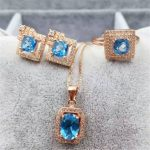 Natural crystal Topaz <b>Earrings</b> Pendant inlaid jewelry wholesale sterling <b>silver</b> ring set S925 free shipping