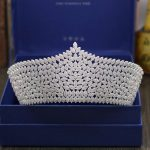 Bridal Tiaras and Crowns Sliver Color Hair Crown Full Cubic Zirconia Large Queen Crown for Women <b>Wedding</b> Hair <b>Jewelry</b>