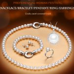 RUNZHUQIYUAN 2017 100% natural freshwater pearl jewelry sets 925 sterling <b>silver</b> jewelry Necklace genuine set for woman