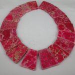 20pcs 30*40mm New Pink Imperial Stone Slice Beads, Top Drilled Slab Shape Gems Stone Beaded Accessories <b>Jewelry</b> <b>Making</b>