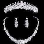 crystal <b>jewelry</b> set rhinestone wedding <b>jewelry</b> necklace and earring sets necklace women set Bridal Crown Necklace Earring Set