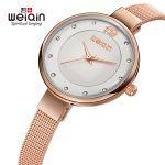 WEIQIN 2108 Popular <b>Silver</b> Fashion Women Watches Diamond Dial Full Steel <b>Bracelet</b> Dress Watch Women Slim Mujeres reloj kol saati