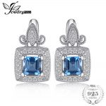 JewelryPalace Carved 1ct Genuine London Blue Topaz great <b>Earrings</b> 925 Sterling <b>Silver</b> <b>Earring</b> Fine Jewelry For Women hot selling