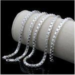 925 <b>sterling</b> <b>silver</b> <b>jewelry</b> for men and women fashion Thai <b>silver</b> <b>silver</b> necklace collarbone short chain 50cm*2.5