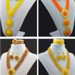 High quality <b>Handmade</b> 2016 <b>Jewelry</b> Sets Red Nigerian Wedding African Beads <b>Jewelry</b> Set New Bridal <b>Jewelry</b> Neckalce Sets
