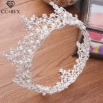 CC Tiaras And Crwons Hairbands Vintage Round Pearl Engagement <b>Wedding</b> Hair Accessories For Bride <b>Jewelry</b> Cubic Zircon Gift XY043