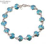 Top Sale Wholesale & retail Blue fire Opal silver <b>Fashion</b> <b>Jewelry</b> Bracelets Beautiful gifts OB020