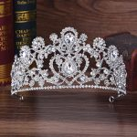 KMVEXO Silver Red Blue Rhinestone Tiaras Bridal Crown Women Headpiece Princess Wedding Hair Accessories Crystal Hair <b>Jewelry</b>