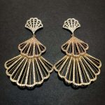 XIUMEIYIZU Luxury Fan Shape Trendy Cubic Zirconia <b>Wedding</b> Party Earring Hollow Out Fashion <b>Jewelry</b> for Women